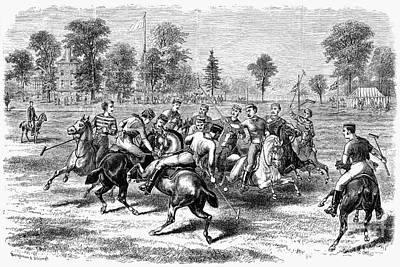 New York: Polo Club, 1876 Art Print