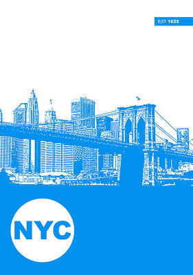 City Skyline Digital Art - New York Poster by Naxart Studio