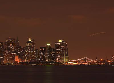 New York Skyline Print by Kim Hojnacki