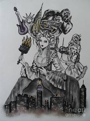 Drawing - New York State Of Mind by Carla Carson