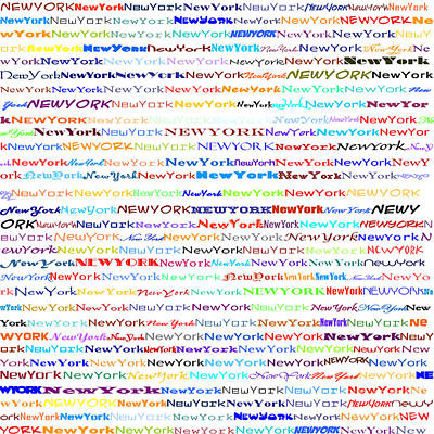 Digital Art - New York Text Design II by Susan Stevenson