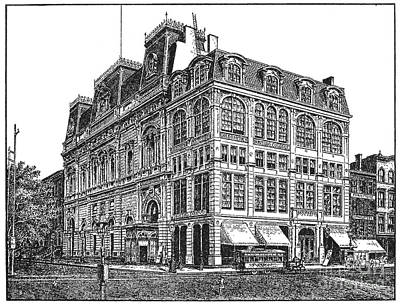 New York: Theater, 1869 Art Print by Granger
