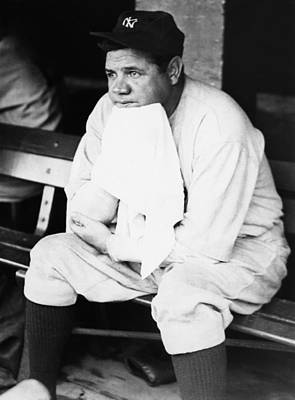 New York Yankees. Outfielder Babe Ruth Print by Everett