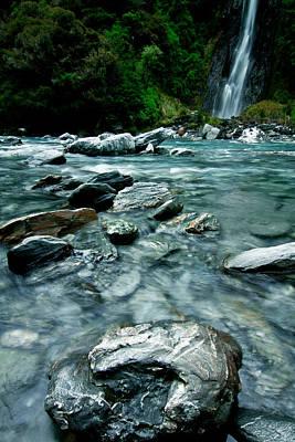Photograph - New Zealand Falls 3 by Jonathan Hansen