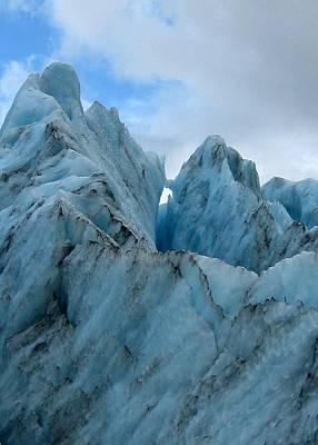 New Zealand Glacier Art Print by JoAnne Rauschkolb