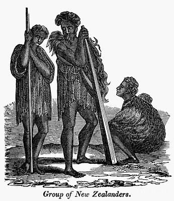 Maori Wall Art - Photograph - New Zealand: Maori, 1840 by Granger