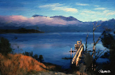 Digital Art - New Zealand Series - Lake Te Anau Morning by Jim Pavelle