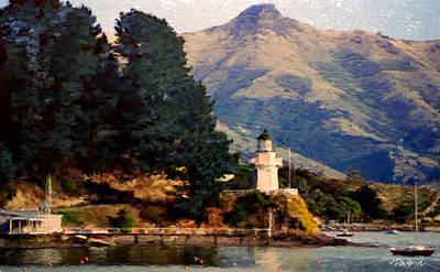 New Zealand Series - Akaroa Lighthouse Art Print by Jim Pavelle