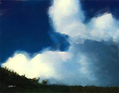 Digital Art - New Zealand Series - Ovis Aries Cumulonimbus by Jim Pavelle