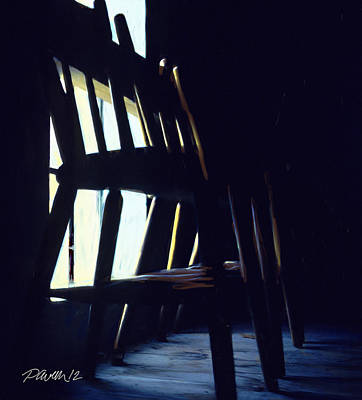 Digital Art - New Zealand Series - St. Ozwald's Choir Loft Chairs by Jim Pavelle
