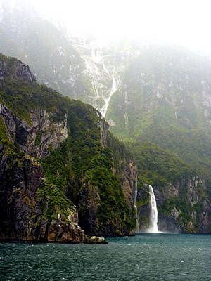 Photograph - New Zealand's Milford Sound by Carla Parris