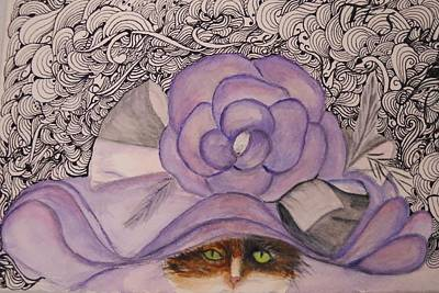 Zentangle Mixed Media - Newbie Wears A Hat by Marian Hebert