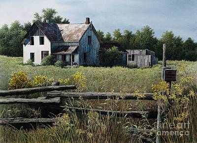 Painting - Newboro Farmhouse by Robert Hinves