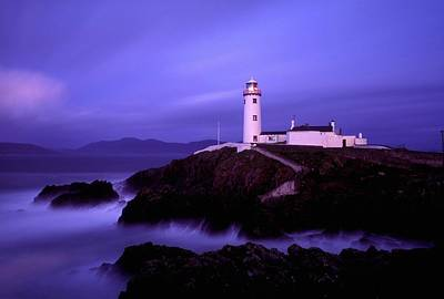 Newcastle, Co Down, Ireland Lighthouse Art Print by The Irish Image Collection