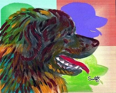 Newfoundland Dog Painting - Newfoundland by Char Swift