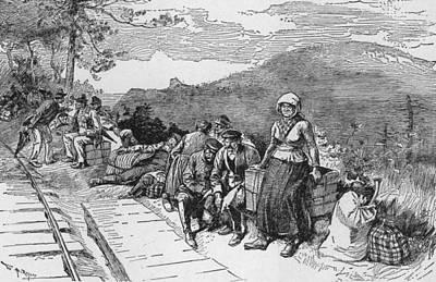 Slavic Photograph - Newly Arrived Slavic Immigrants by Everett