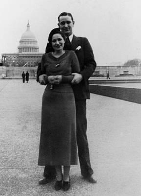Lyndon Photograph - Newlywed Lyndon And Lady Bird Johnson by Everett