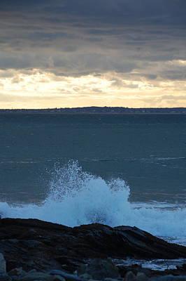 Newport Evening Waves Art Print by Dickon Thompson