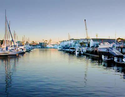 Trawler Digital Art - Newport Harbor At Sunset by Elaine Plesser