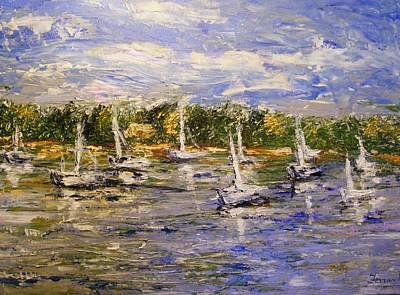 Art Print featuring the painting Newport Views by Karen  Ferrand Carroll
