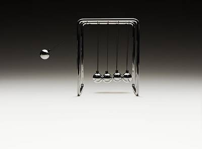 Invention Of Motion Photograph - Newton's Cradle by Tony Mcconnell