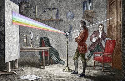 Observer Photograph - Newton's Optics by Sheila Terry