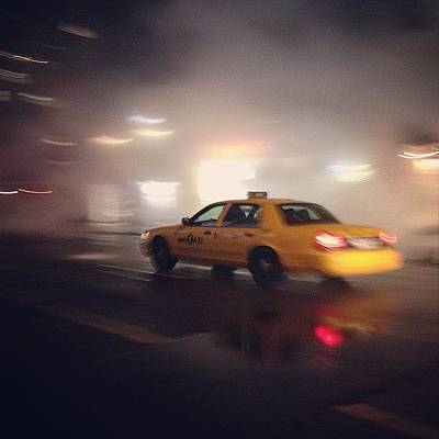 Steam Wall Art - Photograph - #newyork #yellowtaxi In The #steam #ny by Emily Hames