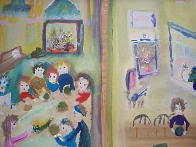 Neighbouring Painting - Next Door by Judith Desrosiers