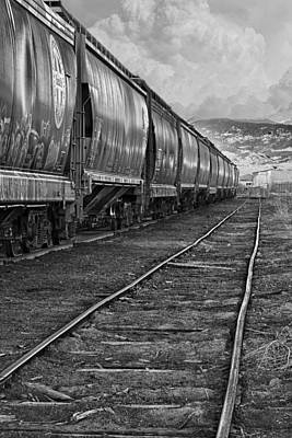 Photograph - Next Tracks In Black And White by James BO  Insogna