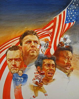 Painting - Nfl Hall Of Fame 1984 Game Day Cover by Cliff Spohn