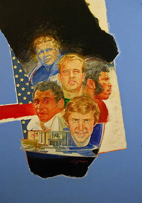 Painting - Nfl Hall Of Fame 1986 Game Day Cover by Cliff Spohn