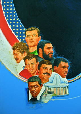 Painting - Nfl Hall Of Fame Game Day Cover by Cliff Spohn