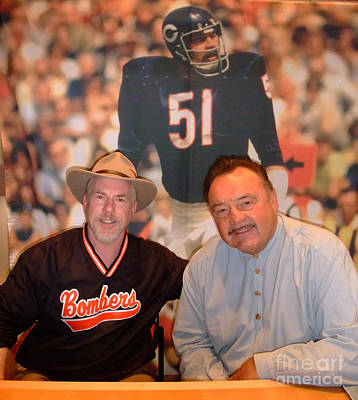 Football Photograph - Nfl Hall Of Fame Legend Dick Butkus At Field Of Dreams In Las Vegas by Jim Fitzpatrick
