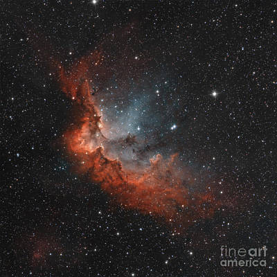 Ngc 7380 In True Colors Art Print by Rolf Geissinger
