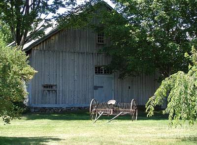 Photograph - Nh Barn by Kerri Mortenson