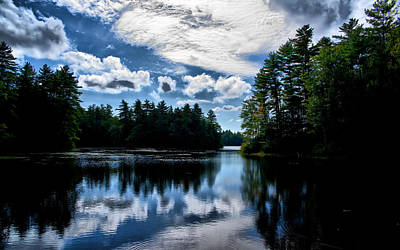 Photograph - Nh Lake  by Edward Myers