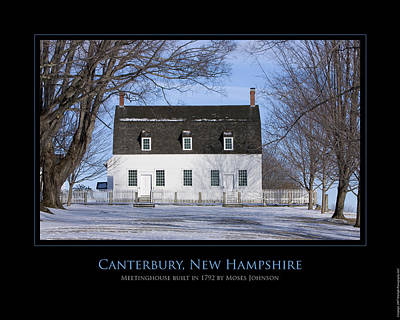 Photograph - Nh Meetinghouse by Jim McDonald Photography