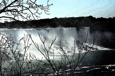 Art Print featuring the photograph Niagar Falls by Pravine Chester