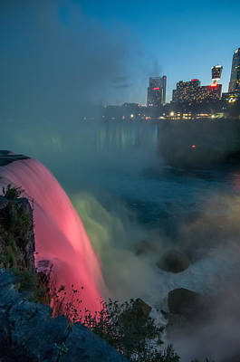 Photograph - Niagara At Night by Guy Whiteley