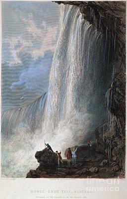 Photograph - Niagara Falls, 1835 by Granger