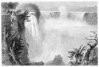 Photograph - Niagara Falls, 1839. For Licensing Requests Visit Granger.com by Granger