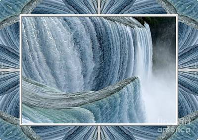 Photograph - Niagara Falls Abstract Warp by Rose Santuci-Sofranko