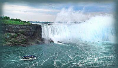 Photograph - Niagara Falls And The Bubbles by Joan  Minchak