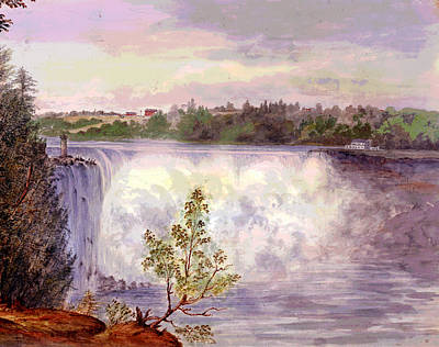 Luna Mixed Media - Niagara Falls by Charles Shoup