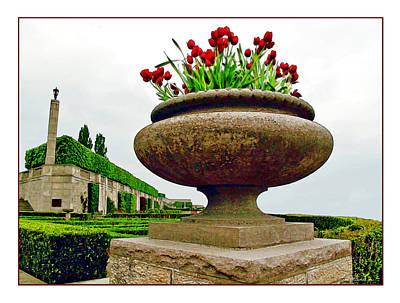 Photograph - Niagara Falls Floral Urn by Joan  Minchak