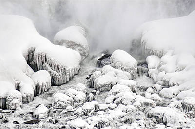 Photograph - Niagara Falls Frozen Abstract 1 by J R Baldini Master Photographer