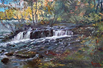 Creek Painting - Niagara Falls River by Ylli Haruni
