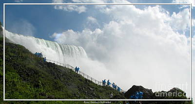 Photograph - Niagara Falls Stairs Next To American Falls by Rose Santuci-Sofranko