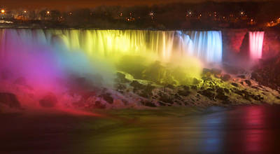 Valentines Day - Niagara Lights by Cindy Haggerty