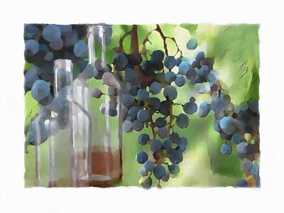 Winery Digital Art - Niagara Peninsula Wine Country by Bob Salo